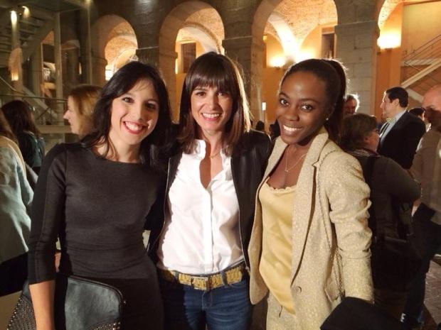 Con mi amiga Maria y Cristina Mitre