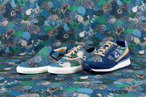le coq sportif x Liberty Art Fabrics pack Midnight Dress Blues