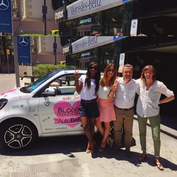 Con Miriam, creadora del movimiento MtoB y Clara y Sergi de Auto Beltrán. Gracias por todo!