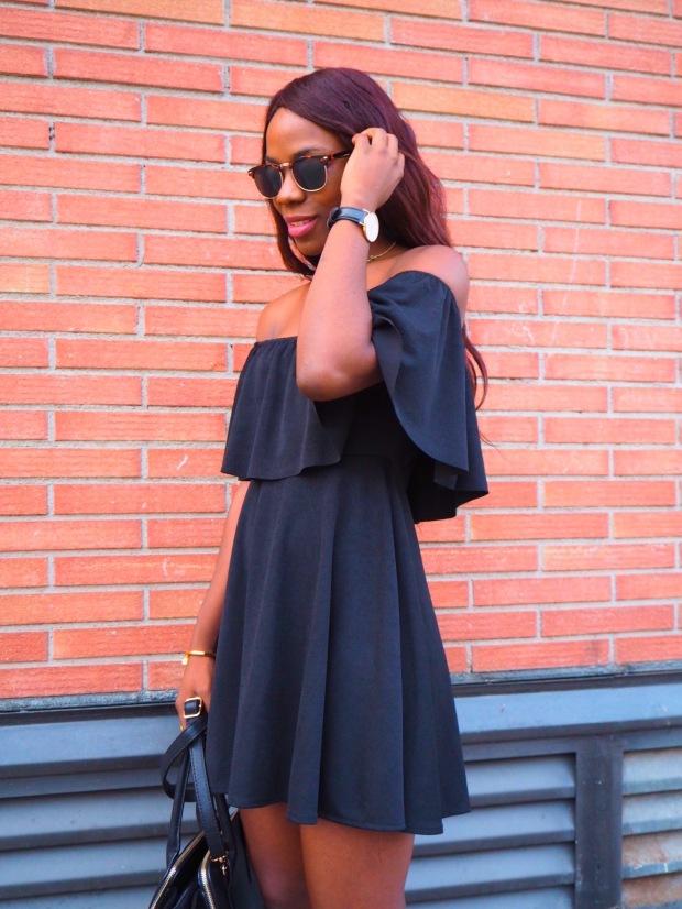 Black off shoulder dress_blogger_adriboho_bohoclosetblog1