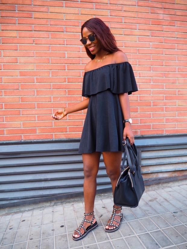 Black off shoulder dress_blogger_adriboho_bohoclosetblog5