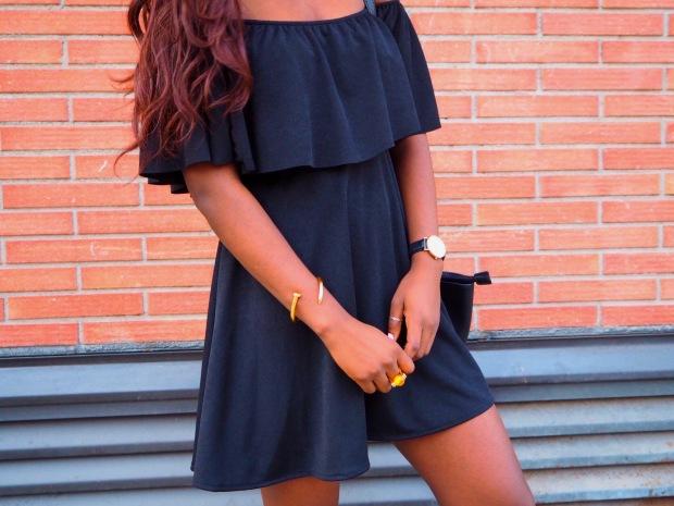 Black off shoulder dress_blogger_adriboho_bohoclosetblog6