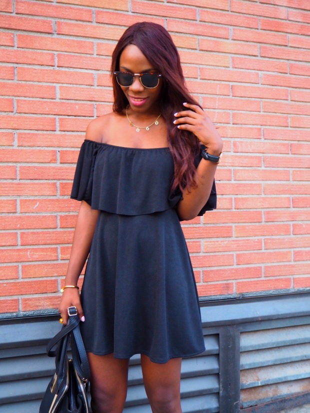 Black off shoulder dress_blogger_adriboho_bohoclosetblog7