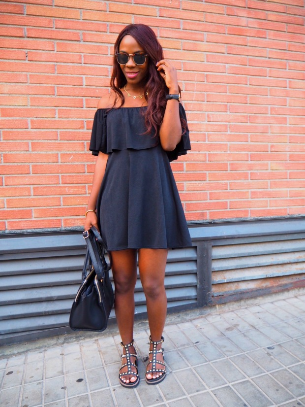 Black off shoulder dress_blogger_adriboho_bohoclosetblog9