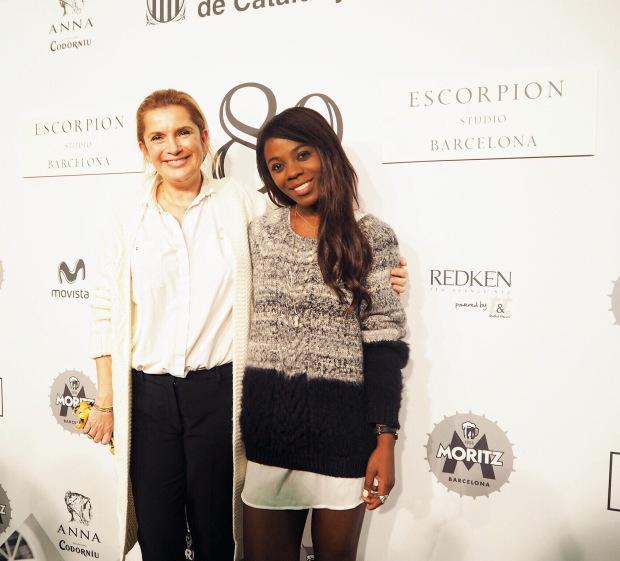 Con Sybille, directora creativa de la fima.