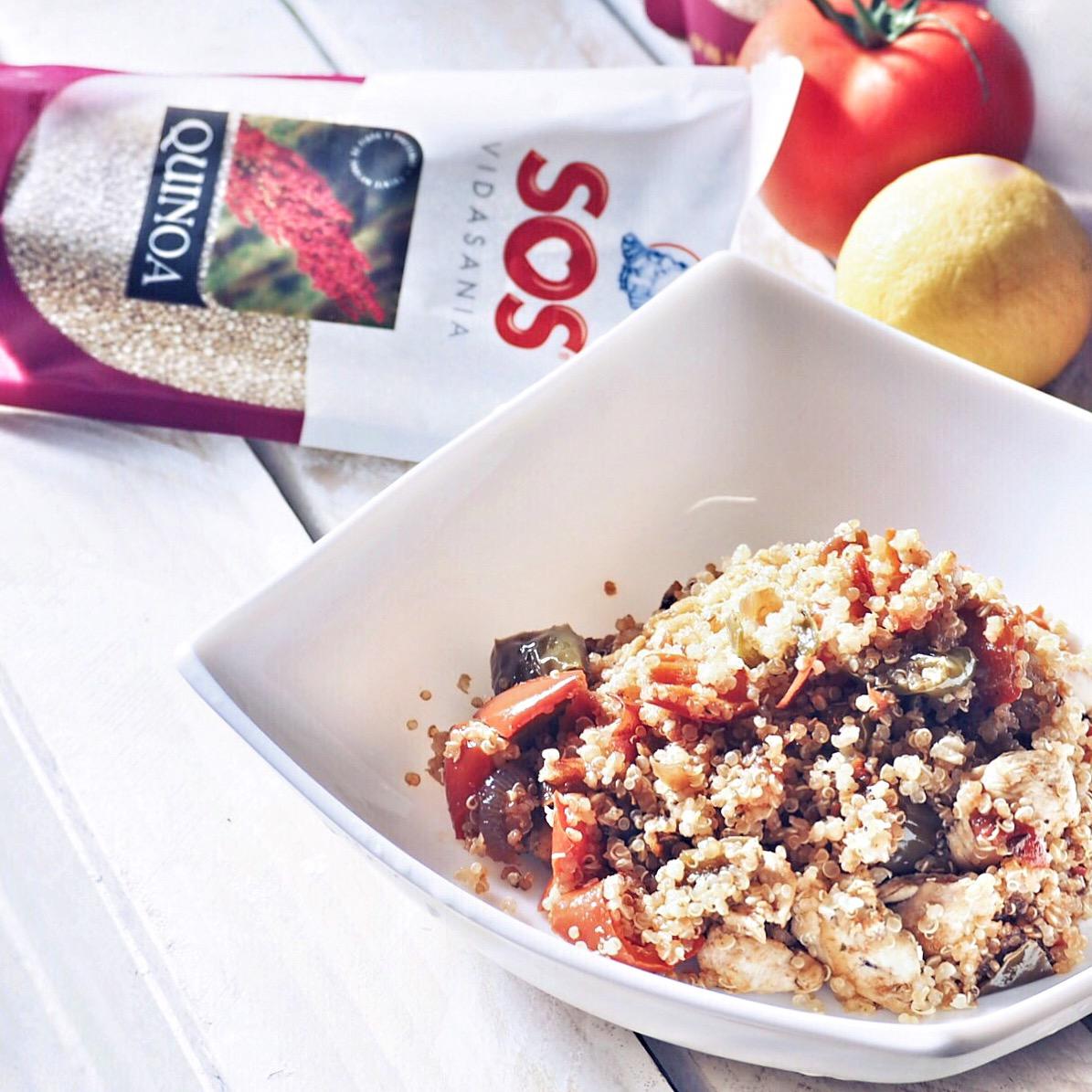 receta quinoa sos con pollo adriana boho style